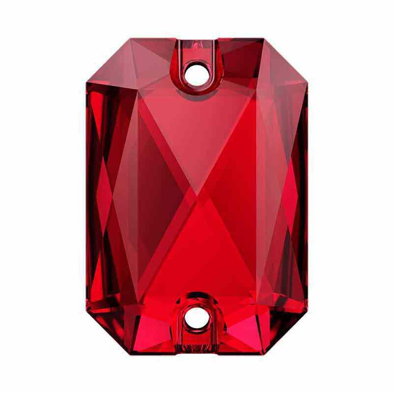 14X10MM Scarlet F 3252 Emerald Cut SWAROVSKI Пришивные Кристаллы