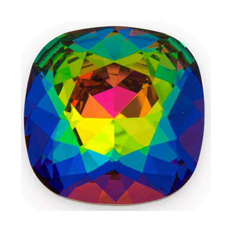 12mm Crystal Vitrail Medium F Cushion Square Fancy Stone 4470 Swarovski