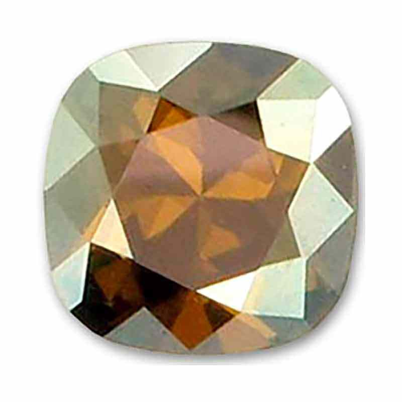 10mm Crystal Bronze Shade F Cushion Square Fancy Stone 4470 Swarovski