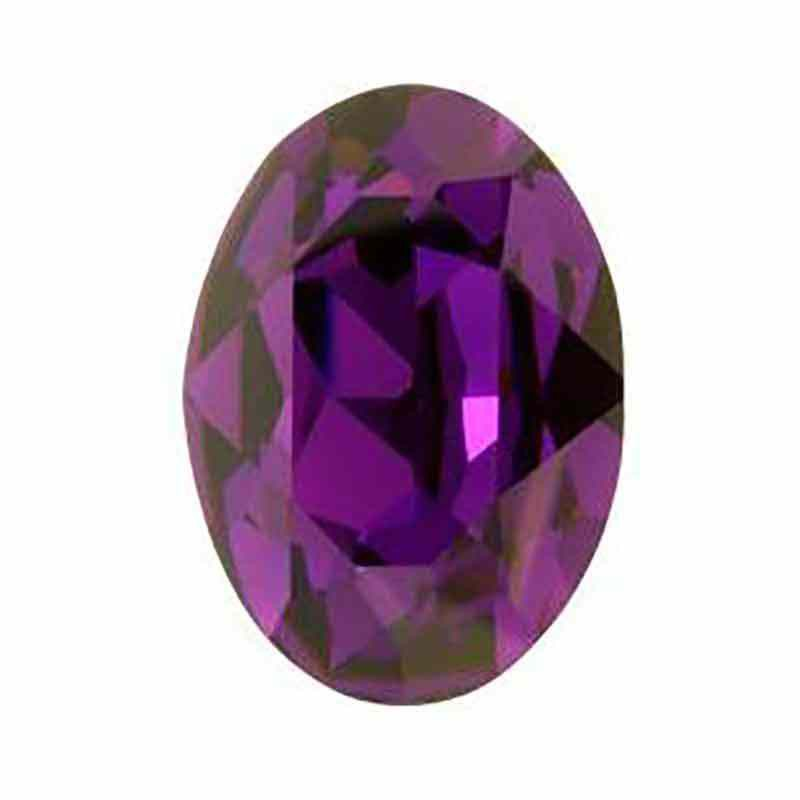 14x10mm Purple Velvet F Oval Fancy Stone 4120 Swarovski