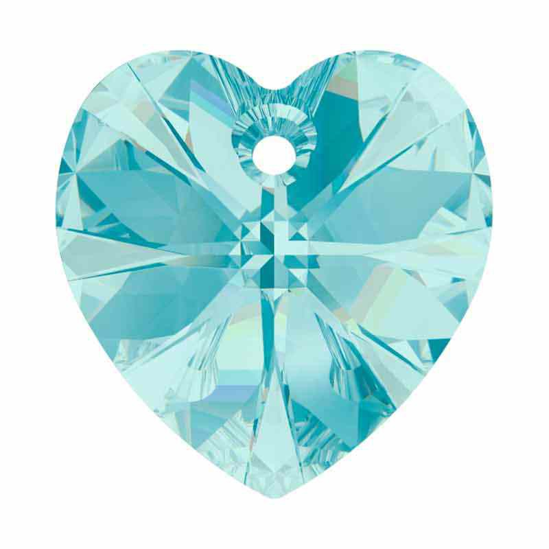 14.4x14MM Light Turquoise XILION Heart Pendants 6228 SWAROVSKI