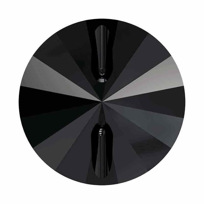 12MM Jet Rivoli 3015 Button SWAROVSKI Crystal