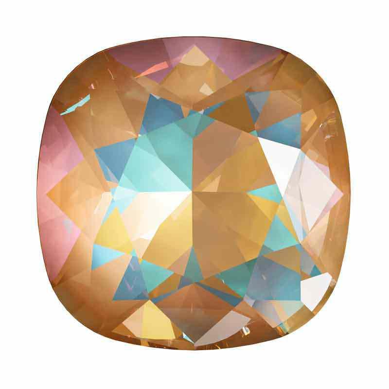 10mm Crystal Ochre DeLite Tyynyn muotoinen Fancy Stone 4470 Swarovski