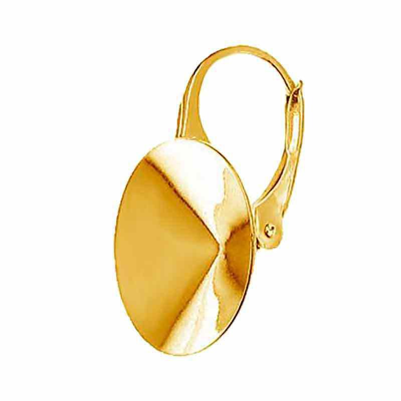 For rivoli 1122 14mm Swarovski Silver Gold Plated Lever back lock