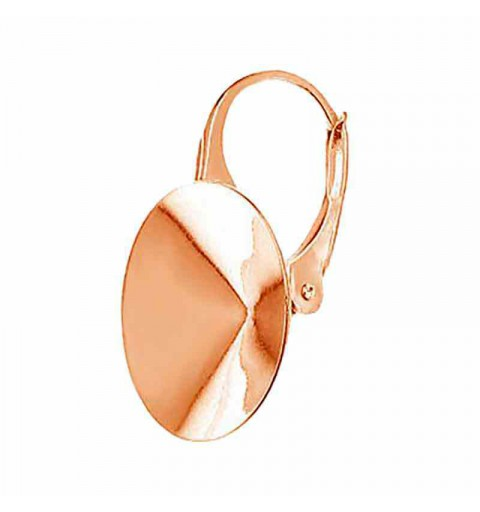 For rivoli 1122 14mm Swarovski Silver Rose Gold Plated Lever back lock