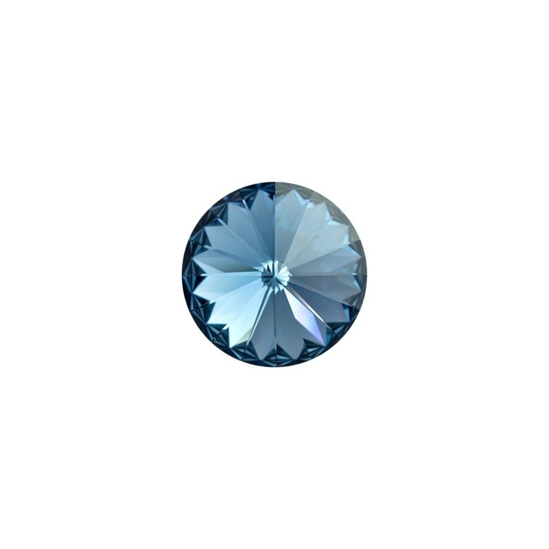 14MM Denim Blue F (266) 1122 Rivoli Chaton SWAROVSKI ELEMENTS