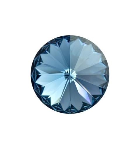 14MM Denim Blue F (266) 1122 Rivoli Chaton SWAROVSKI ELEMENTS