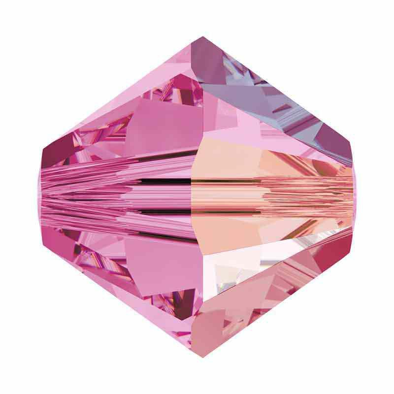 3MM Rose Shimmer 5328 XILION Bi-Cone Perles SWAROVSKI