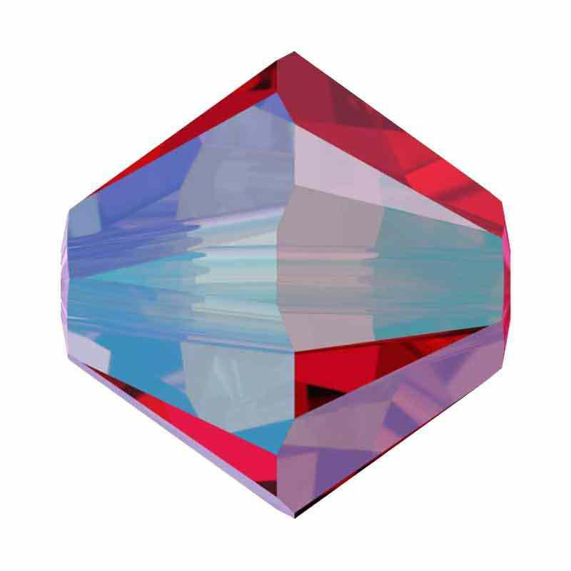 3MM Light Siam Shimmer 2x 5328 XILION Perles de bicone SWAROVSKI