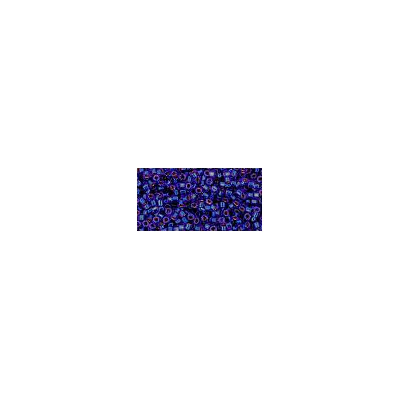 TT-01-743 Copper-Lined Dark Sapphire ТОХО Трэжерс Бисер