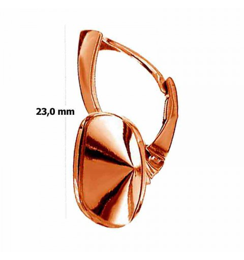 Cushion Square 4470 12mm Swarovski Silver Rose Gold Plated setting