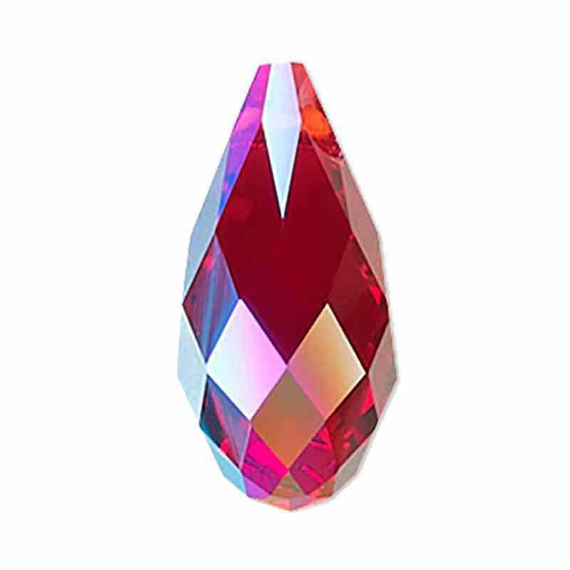 13x6.5MM Siam Shimmer Briolette Pendant 6010 SWAROVSKI
