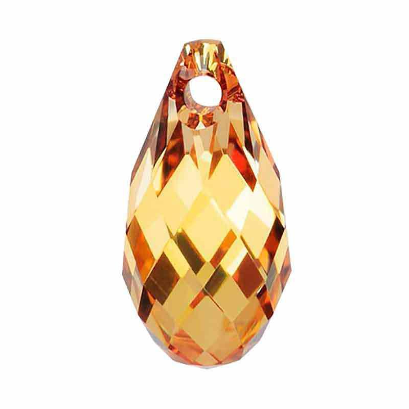 13x6.5MM Crystal Metallic Sunshine Briolette de Pendentif 6010 SWAROVSKI