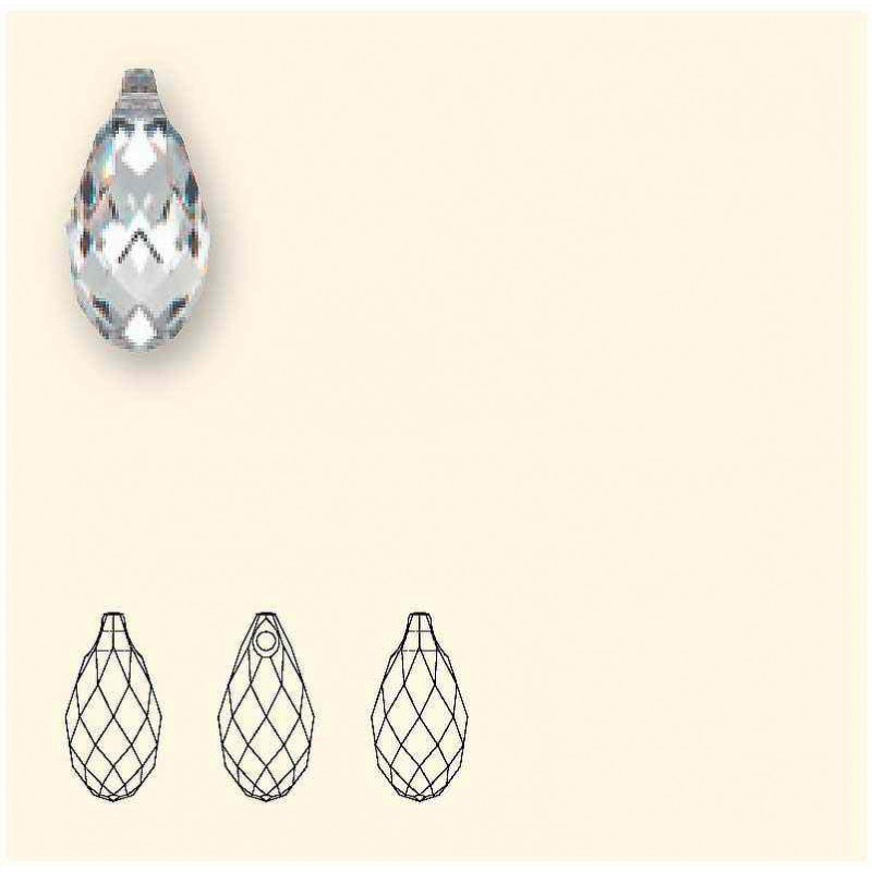 13x6.5MM Crystal Metallic Sunshine Briolette Pendant 6010 SWAROVSKI
