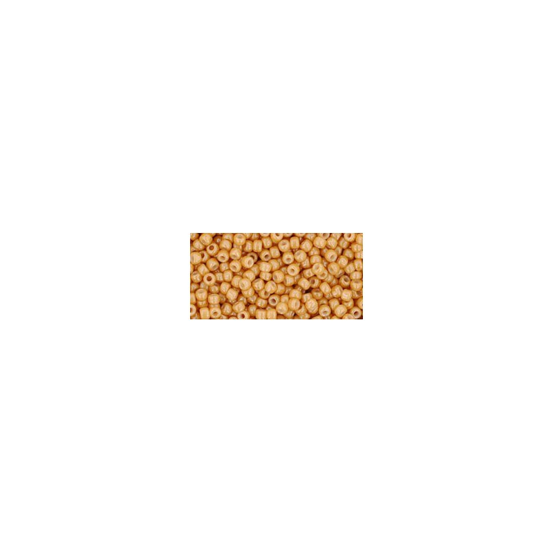 TR-11-123D OPAQUE-LUSTERED DARK BEIGE SEED BEADS