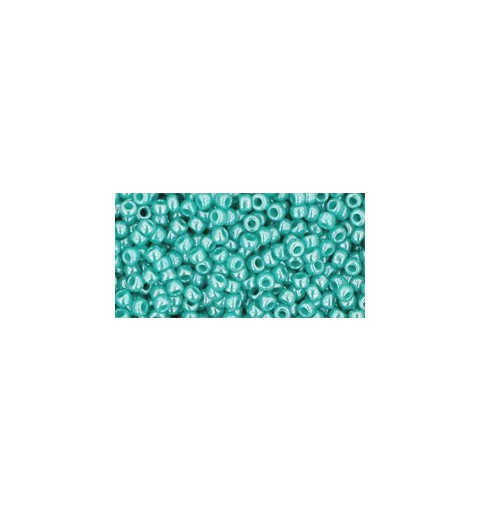 TR-11-132 OPAQUE-LUSTERED TURQUOISE SEED BEADS