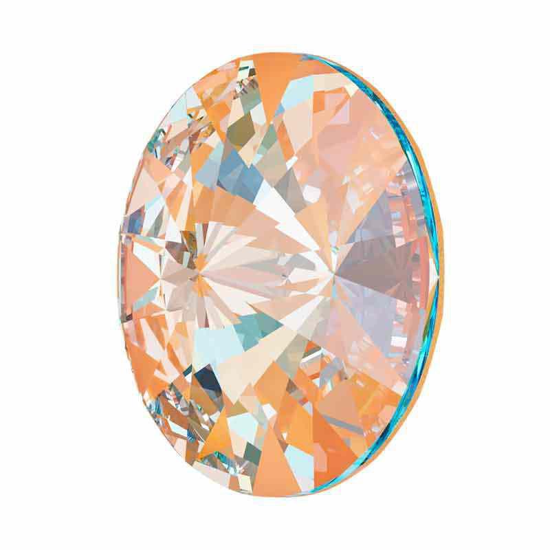 12MM Crystal Peach DeLite 1122 Rivoli SWAROVSKI