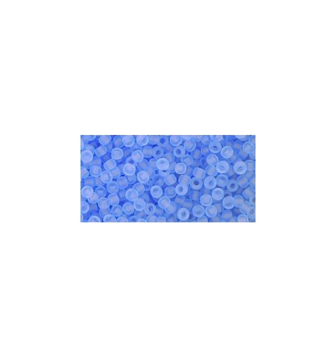 TR-11-13F TRANSPARENT-FROSTED LT SAPPHIRE SEED BEADS