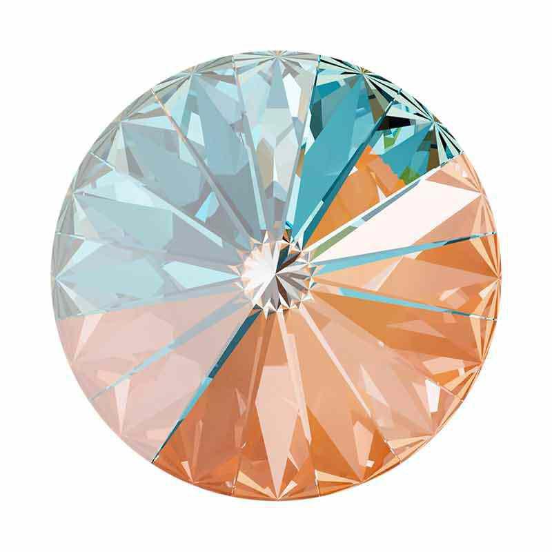 14MM Crystal Peach DeLite 1122 Rivoli SWAROVSKI
