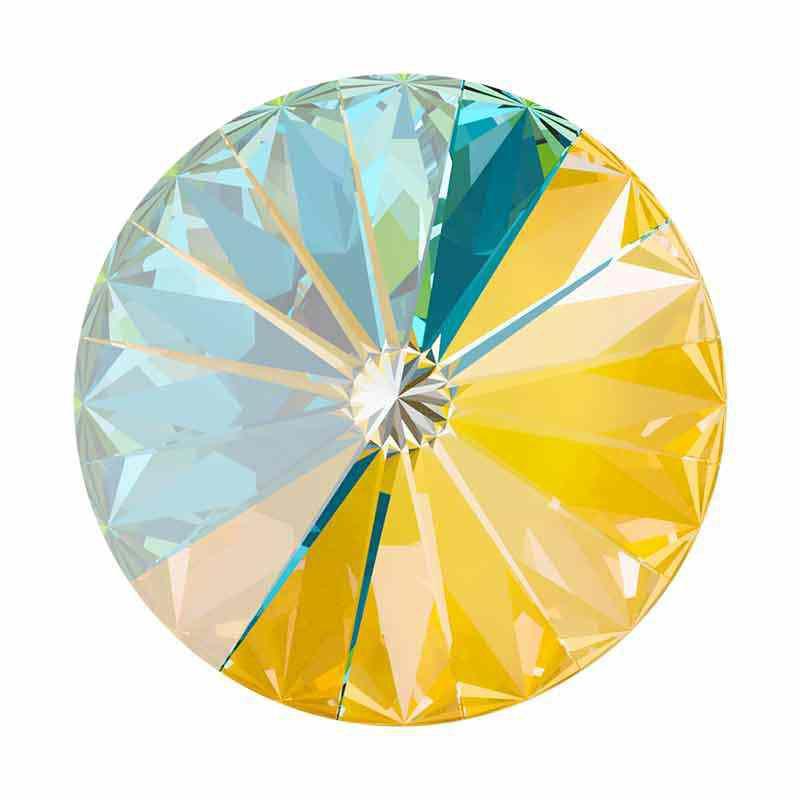 14MM Crystal Sunshine DeLite 1122 Rivoli SWAROVSKI