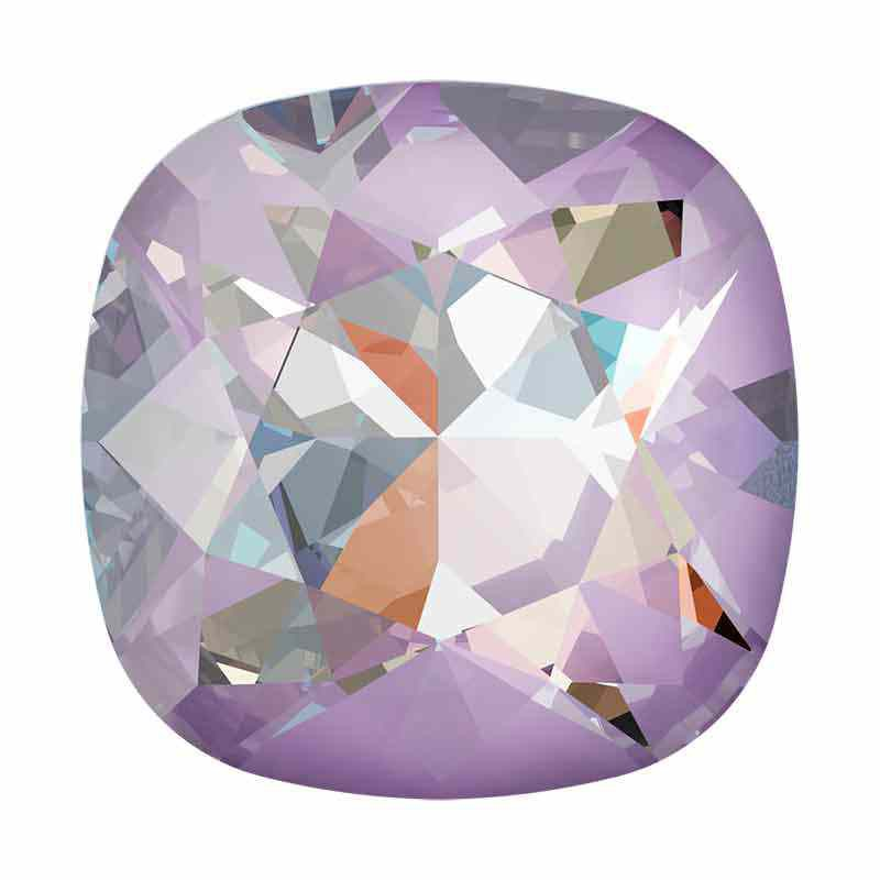 10mm Crystal Lavender DeLite Cushion Square Fancy Stone 4470 Swarovski