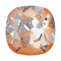 10mm Crystal Peach DeLite Cushion Square Fancy Stone 4470 Swarovski