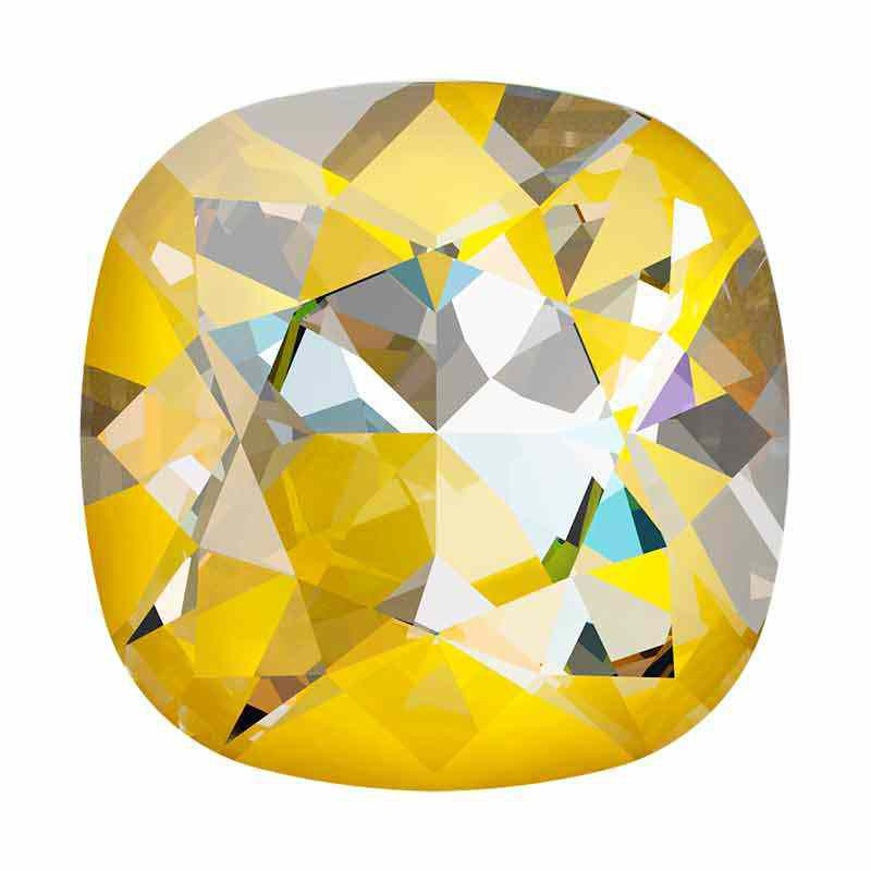 10mm Crystal Sunshine DeLite Cushion Square Fancy Stone 4470 Swarovski