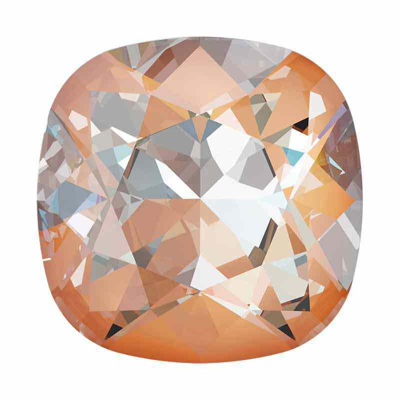 12mm Crystal Peach DeLite Подушкообразный Квадратный Кристалл 4470 Swarovski