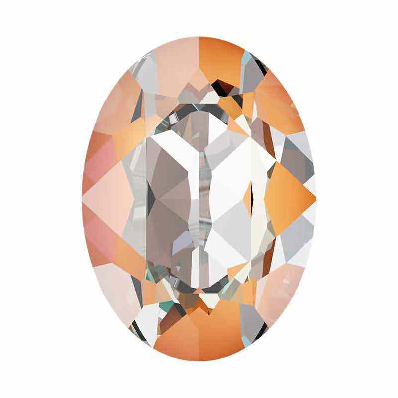 14x10mm Peach DeLite Oval Fancy Stone 4120 Swarovski