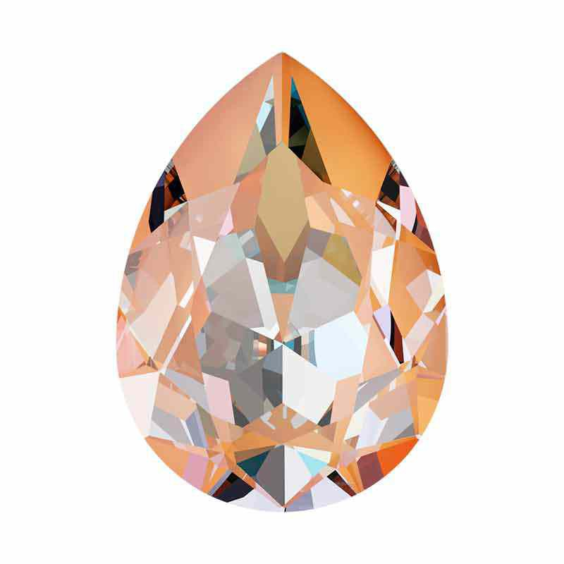 14x10mm Peach DeLite Pear-Shaped Fancy Stone 4320 Swarovski Crystal