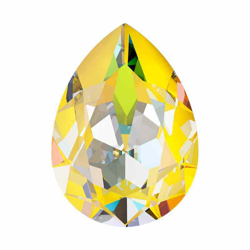 14x10mm Sunshine DeLite Pear-Shaped Fancy Stone 4320 Swarovski Crystal