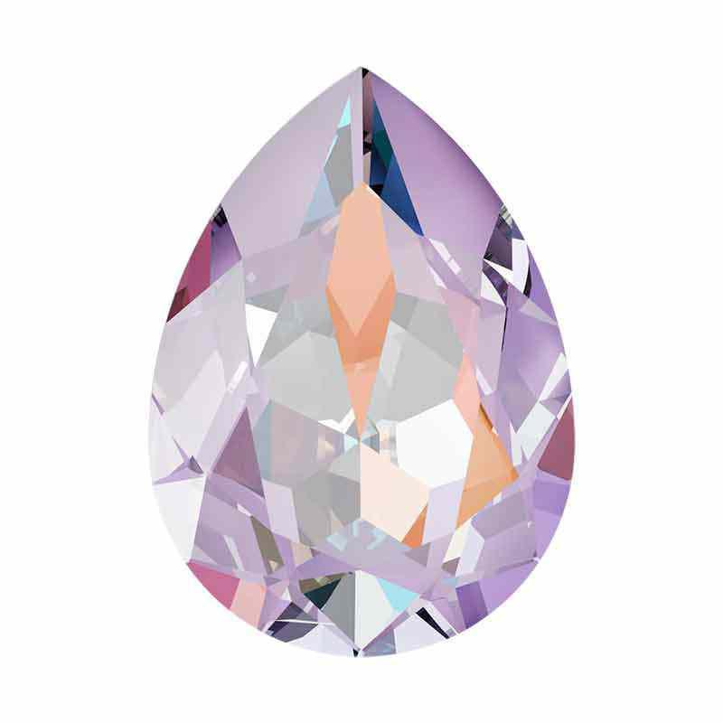18x13mm Lavender DeLite Pirnikujuline Ehete Kristall 4320 Swarovski
