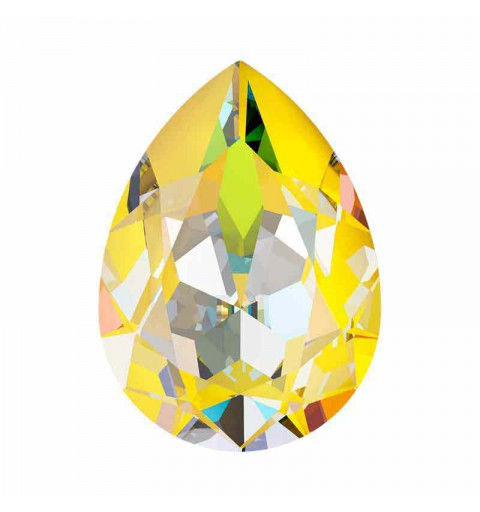 18x13mm Sunshine DeLite Pear-Shaped Fancy Stone 4320 Swarovski Crystal
