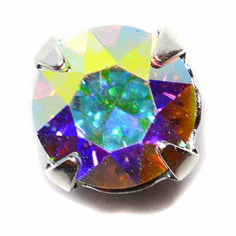 PP31 Crystal AB F Silver Brushed 53200 Chaton Montees Swarovski