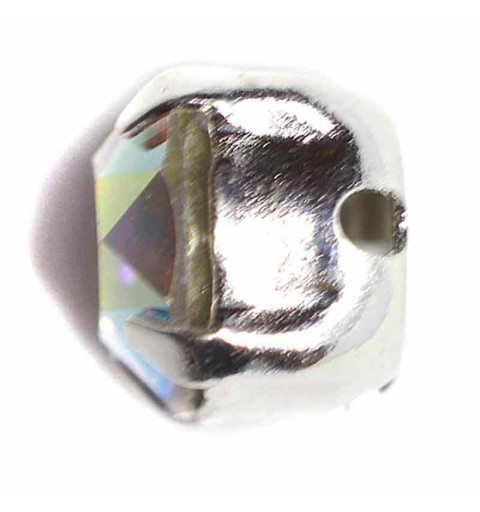 PP31 Crystal AB F Silver Brushed 53200 Chaton Montees Swarovski