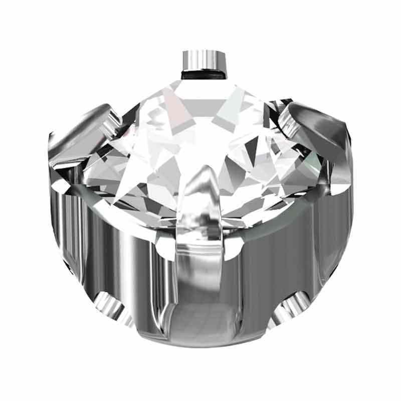 SS29 Crystal F Silver Brushed 53203 Chaton Montees Swarovski