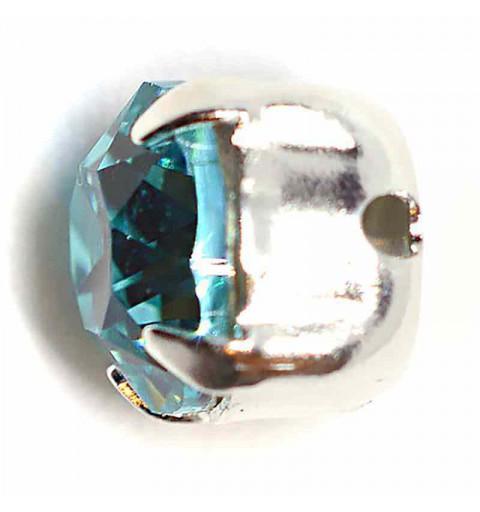 SS29 Light Turquoise F Silver Brushed 53203 Chaton Montees Swarovski