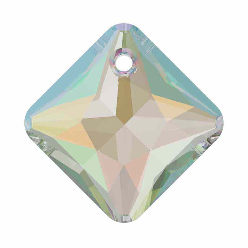 16MM Crystal AB Princess Cut Pendant 6431 SWAROVSKI