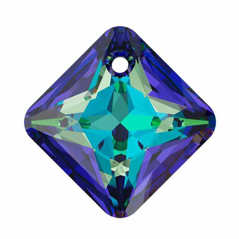 16MM Crystal Bermuda Blue Princess Cut Ripatsid 6431 SWAROVSKI