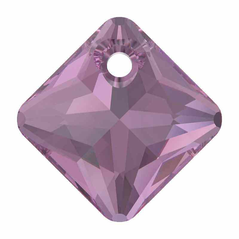 16MM Amethyst Princess Cut Pendant 6431 SWAROVSKI