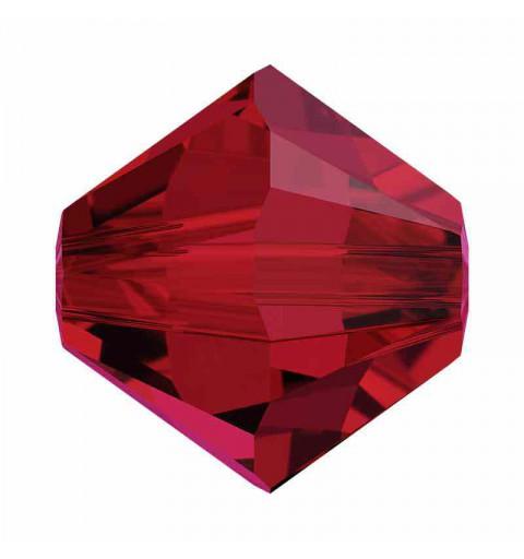 4MM Scarlet 5328 XILION Bi-Cone Perles SWAROVSKI