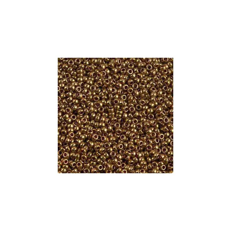 RR-11-457L Metallic Light Bronze Miyuki Round Seed Beads 11/0