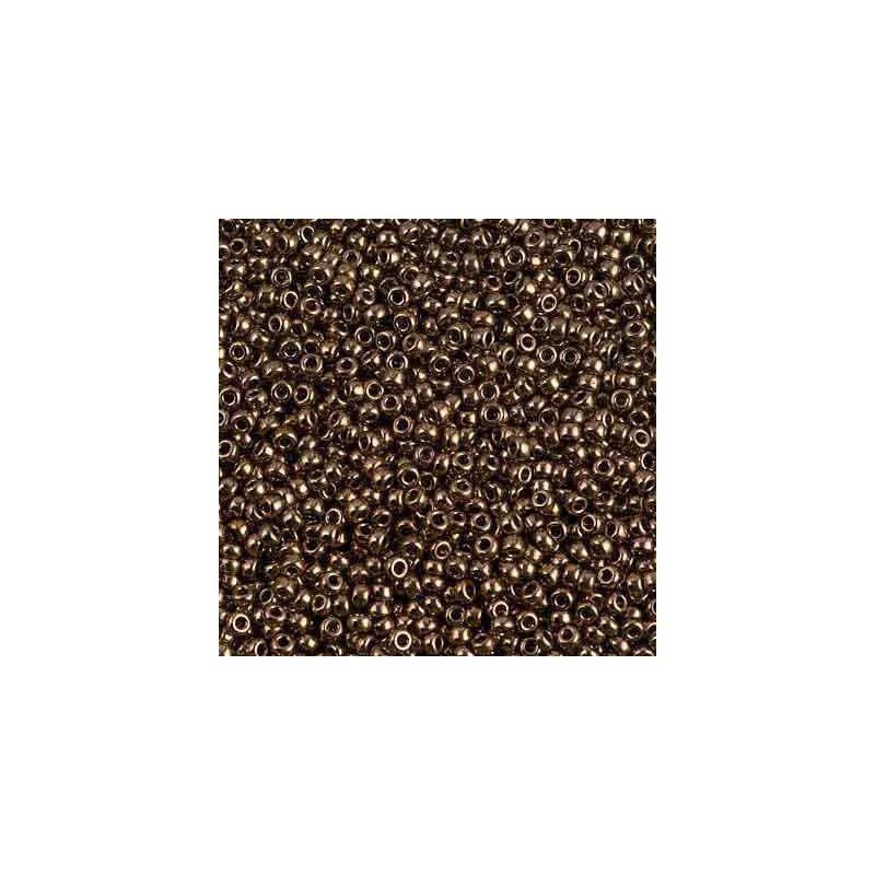 RR-11-457 Metallic Dark Bronze Miyuki Round Seed Beads 11/0