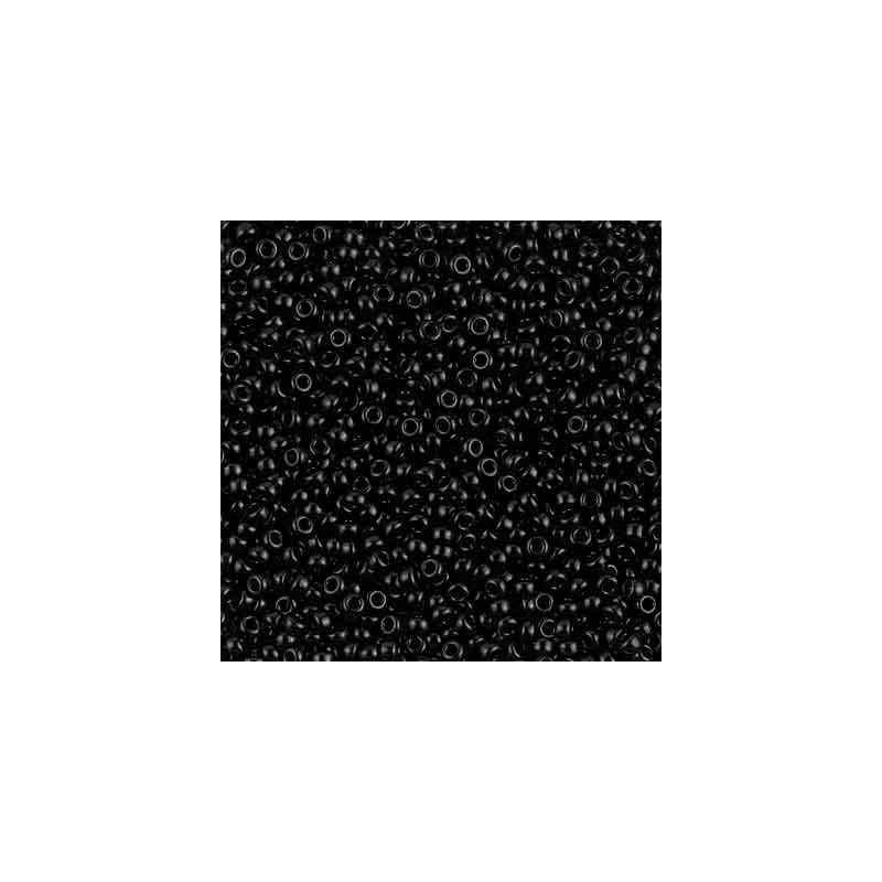 RR-11-401 Black Miyuki Round Seed Beads 11/0