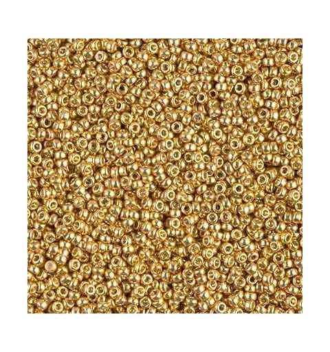 RR-15-4202 Duracoat Galvanized Gold Miyuki Ümmargused Seemnehelmed 15/0