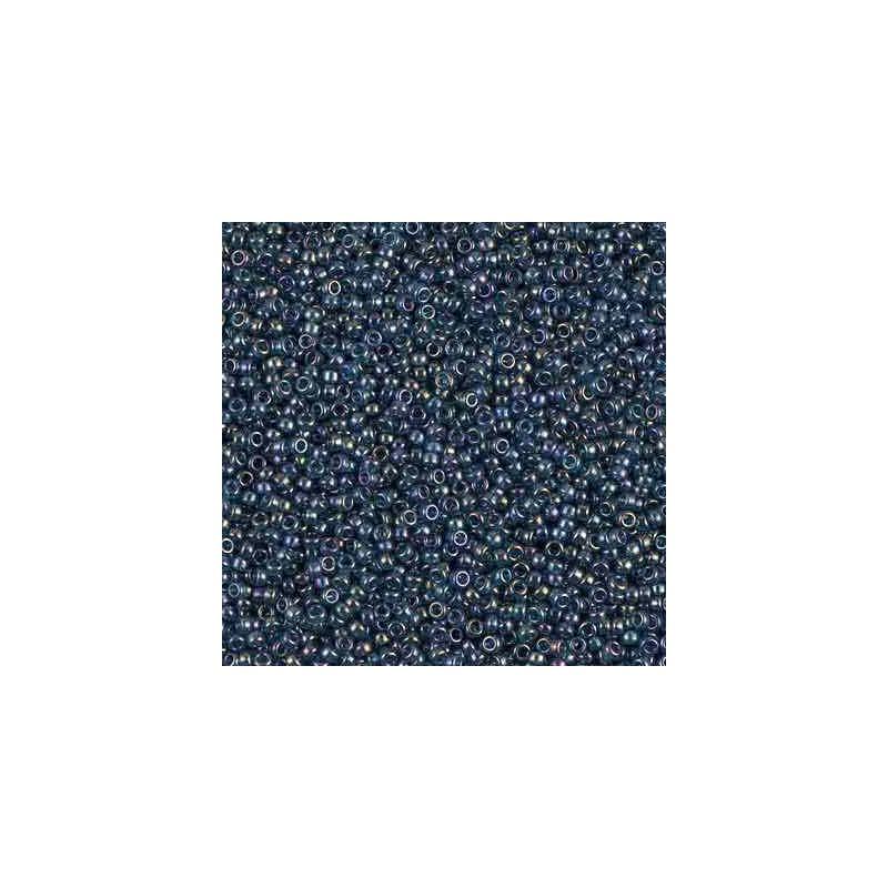 RR-15-305 Montana Blue Gold Luster Miyuki Round Seed Beads 15/0