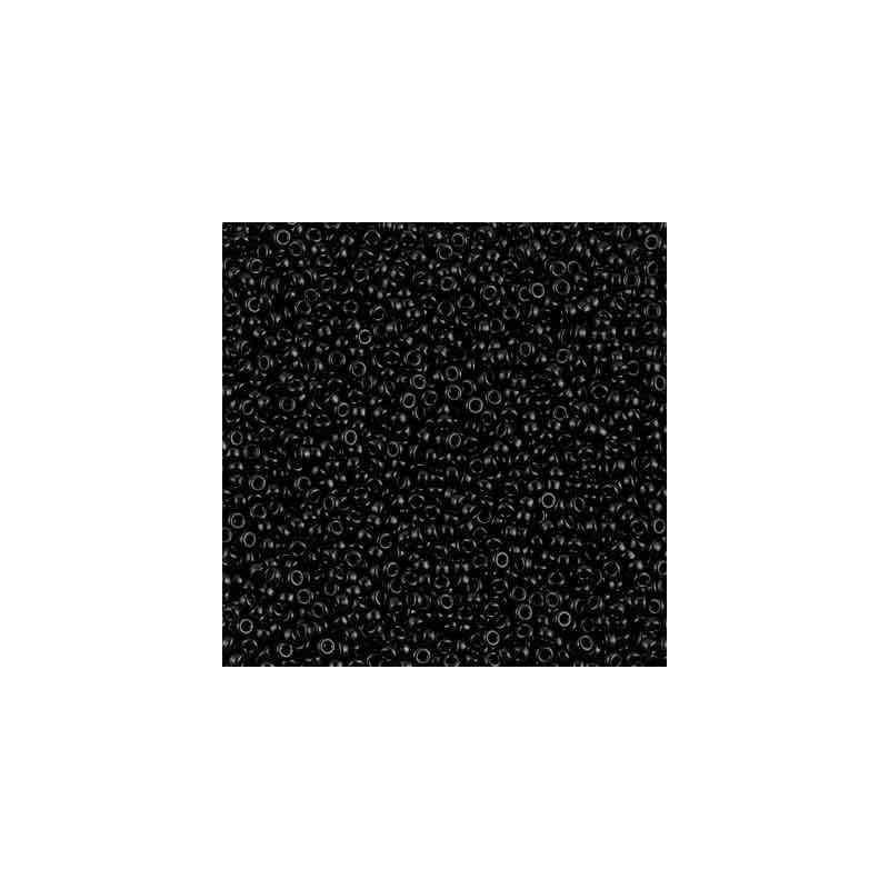 RR-15-401 Black Miyuki Rond Rocailles 15/0