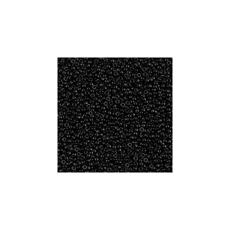 RR-15-401 Black Miyuki Round Seed Beads 15/0