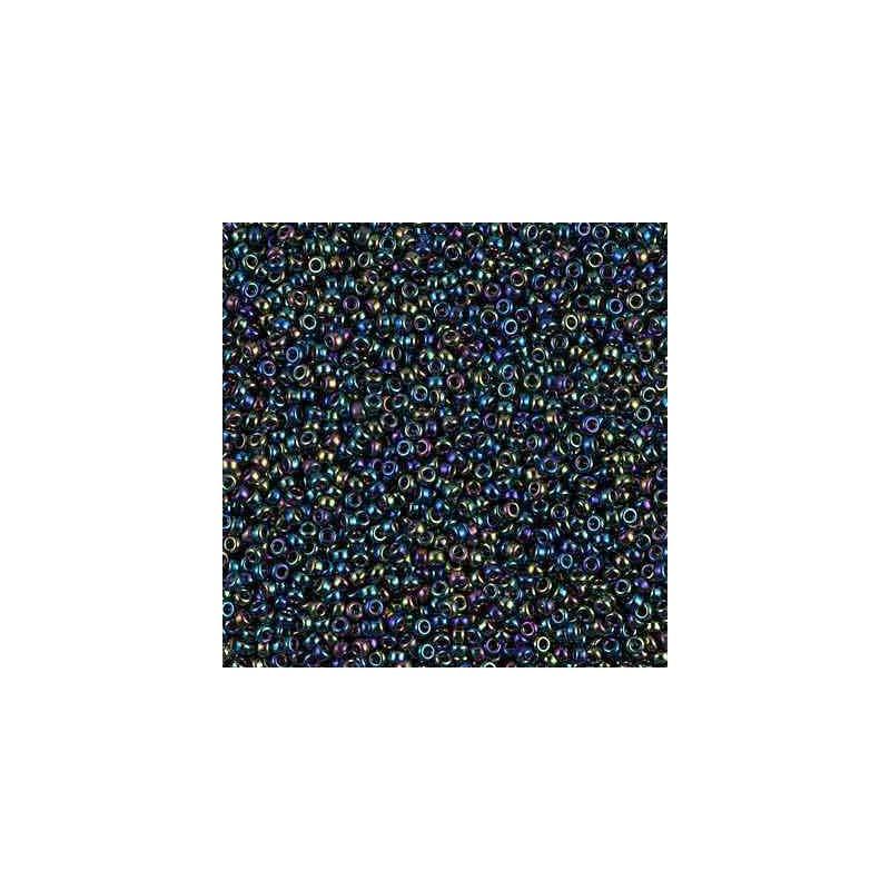 RR-15-455 Metallic Variegated Blue Iris Miyuki Round Seed Beads 15/0