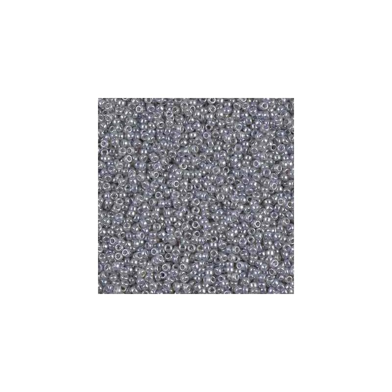 RR-15-526 Silver Gray Ceylon Miyuki Круглый Бисер 15/0